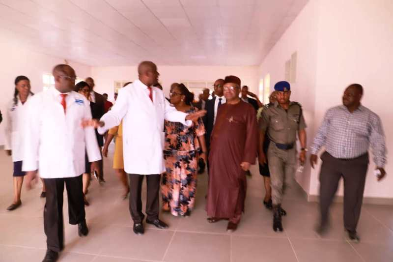 The Minister of Health, Dr Osagie Ehanire's visit to the newly completed A&E Department of the UATH, Gwagwalada and the Isolation Centre of the Hospital under construction